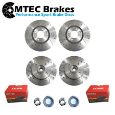 DS3 2009-2015 1.2 1.4 1.6 e-HDi Rear Brake Discs Pair w// ABS Rings For Citroen