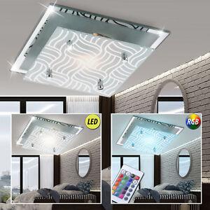 led decken lampe dimmbar chrom rgb licht flur bad spiegel leuchte fernbedienung ebay. Black Bedroom Furniture Sets. Home Design Ideas