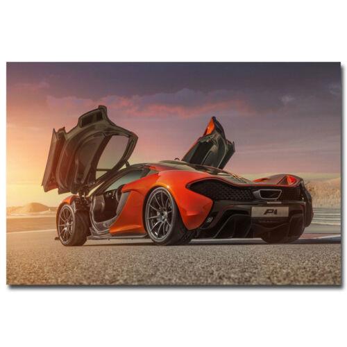 Mclaren Supercar Sport Car Silk Poster 13x20 24x36 inch 005