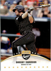 034-Rare-034-Dansby-Swanson-2015-Feuille-Draft-034-or-Edition-034-Carte-Rookie