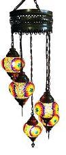 UK SELLER Turkish Moroccan Tiffany Hanging Glass Mosaic Chandelier Lamp Light
