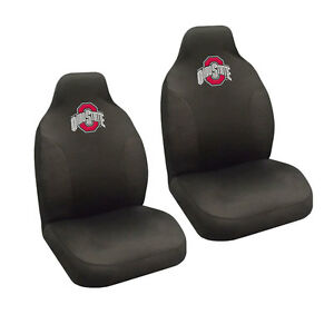 new ncaa ohio state buckeyes universal fit car truck 2 front seat covers set ebay. Black Bedroom Furniture Sets. Home Design Ideas
