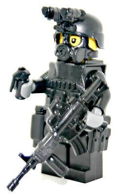 Custom Swat Police Officer Assault Rifle M4A1 Minifigure Army Builder Gun