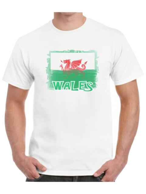 NEW MEN/'S WALES WELSH DRAGON CYMRU AM BYTH RUGBY FOOTY PATRIOT BUTTON UP SHIRT