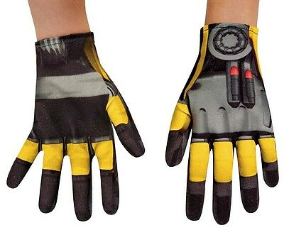 Bumblebee Gloves Transformers Fancy Dress Up Halloween Child Costume Accessory