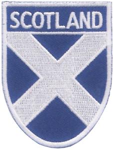 Schottland Schottisch Andreaskreuz Shield Bestickt Abzeichen Patch Letzte Einige