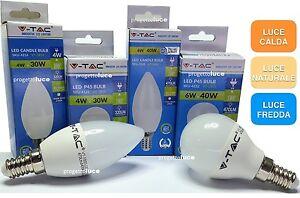 LAMPADINE-LED-V-Tac-E14-da-2W-a-9W-Lampada-Candela-Mini-Globo-Sfera-Oliva-fiamma