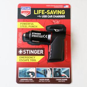 USB Emergency Escape Tool Window Breaker Seat Belt Cutter Charger Ztylus Stinger