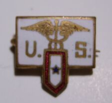 """WW1 US Army Medical Corps """"Son In Service"""" Sweetheart Pin - AEF"""
