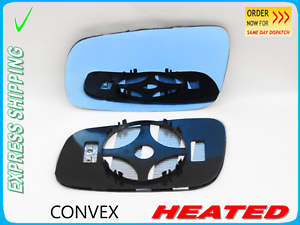 Pour Seat Alhambra Wing Mirror Blue Tinted 2001-2007 Convexe Chauffé Gauche #1016