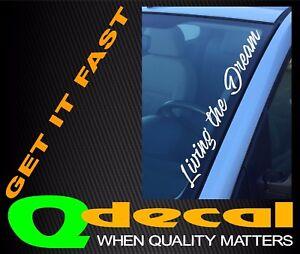 LIVING-THE-DREAM-Car-Windscreen-Sticker-Decal-JDM-Drift-4x4-4wd-Car-Ute