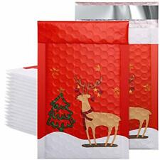 50pcs Poly Bubble Mailers Reindeer 4x8 Inch Padded 48 50pcs Christmas