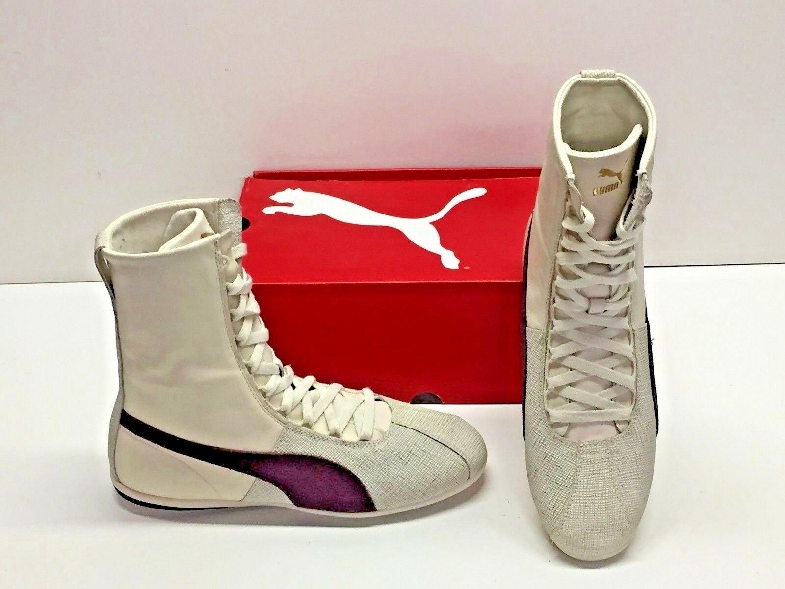Puma Eskiva High Hi Remaster Off White Purple Fashion Sneakers shoes Womens 9