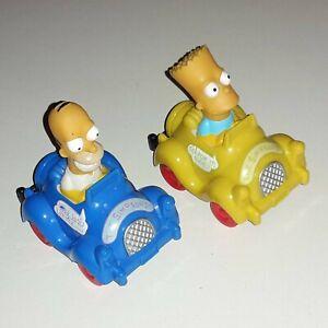 Figuren-Homer-amp-Bart-Simpson-im-Auto-Fahrzeug-The-Simpsons-Fox-ARCO-1990