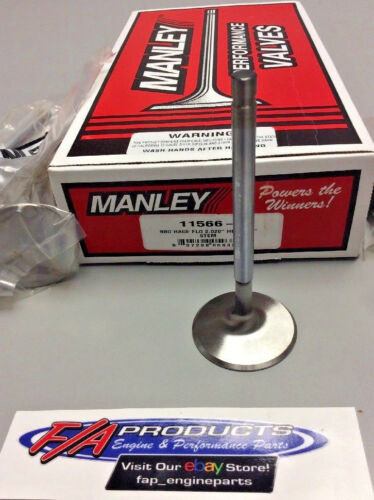 """Manley 11566-8 2.020/"""" Small Block Chevy Race Flo Intake Valves Set Of 8"""