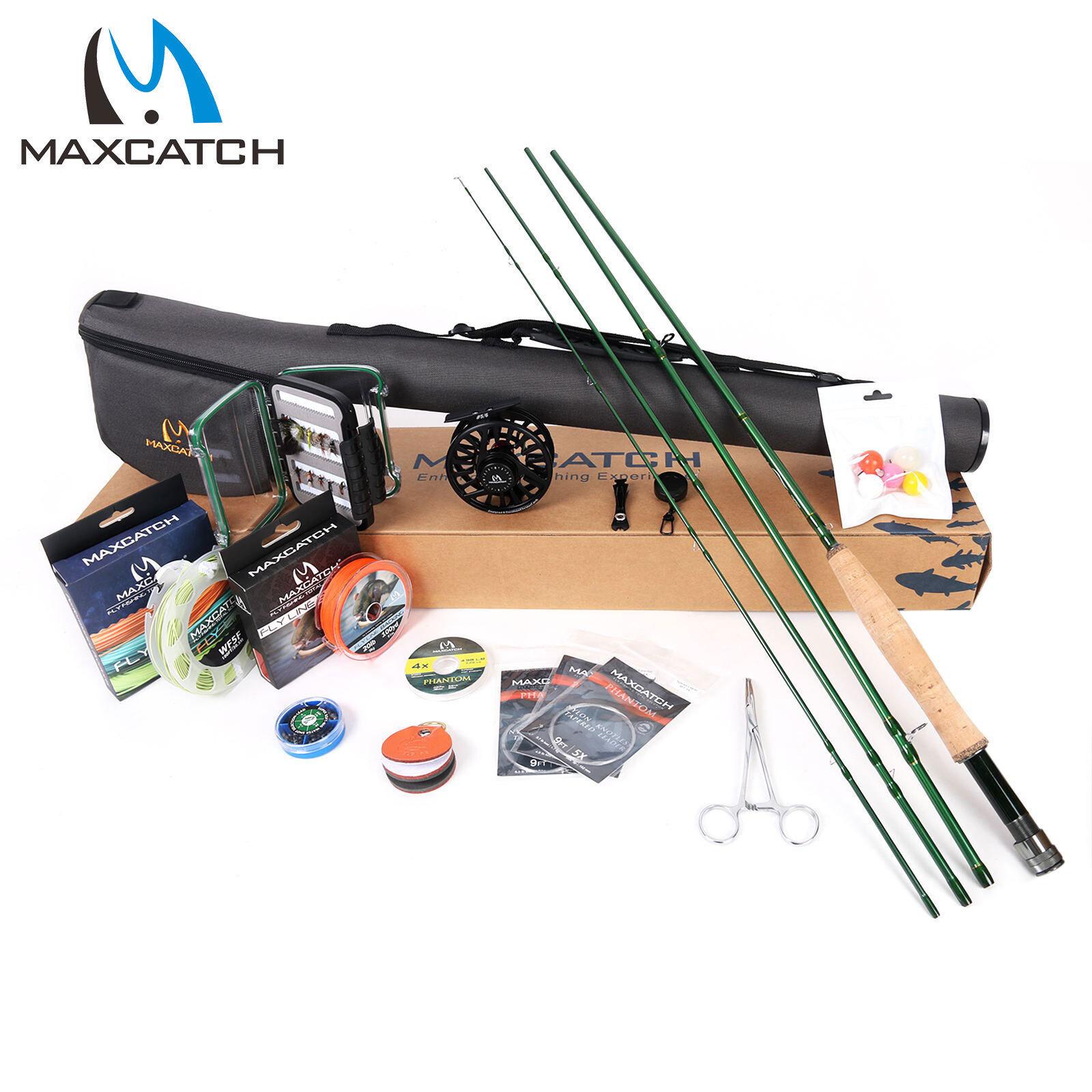 Combo De Caña Reel De Pesca Con Mosca maxcatch completa 9' Kit Completo De Arranque Traje De Pesca