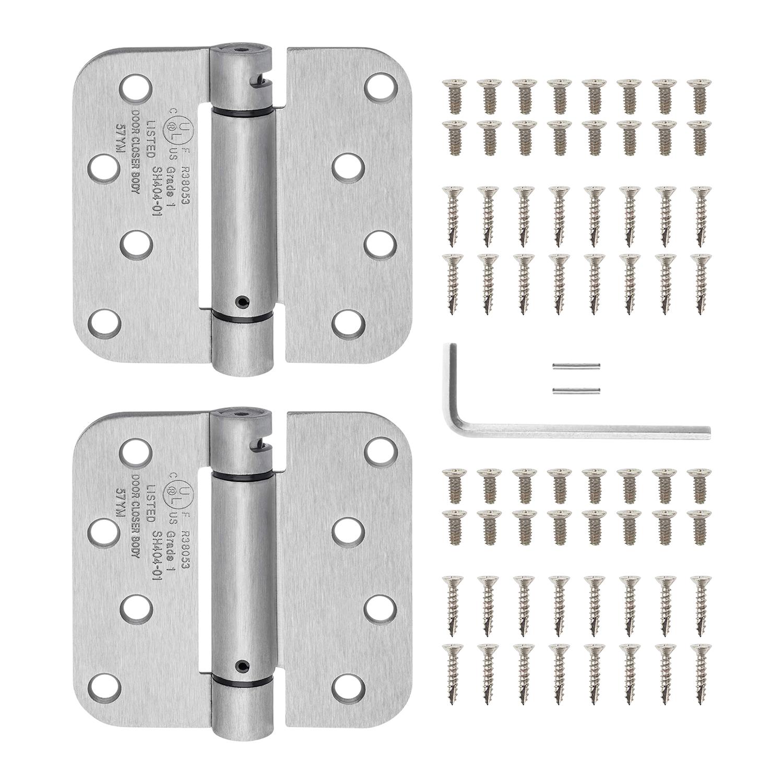 """Door Hinge 4/"""" with 5//8/"""" Straight Corner Radius Multi Pack in ORB or Satin Nickel"""