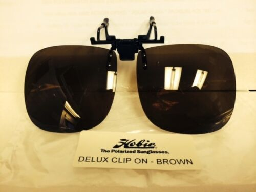 """BROWN FULL BOX-10 PAIRS CLOSEOUT HOBIE POLARIZED /""""CLIP ON/"""" SUNGLASSES"""