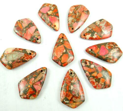 Unique Sea Sediment Jasper /&Pyrite pendant Gemstone Jewelry making necklace L5