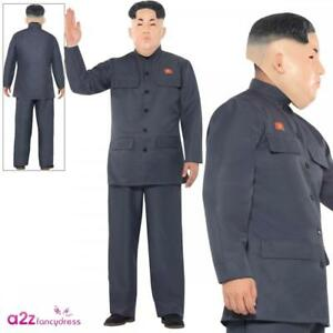 Kim Jong Un Dictator Overhead Mask Korean President Adult Fancy Dress Accessory