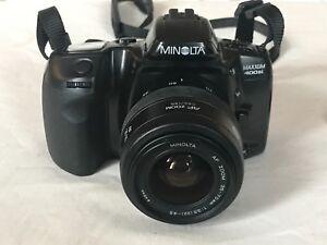 minolta vintage maxxum 400si camera w af zoom 35 70mm lens rh ebay com Minolta Maxxum 400Si Manual Minolta Cameras