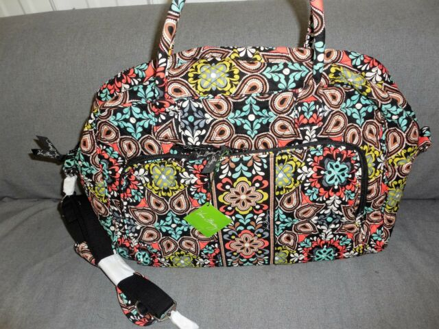 Vera Bradley Sierra Weekender Travel Bag New 98 Retail 12479 282