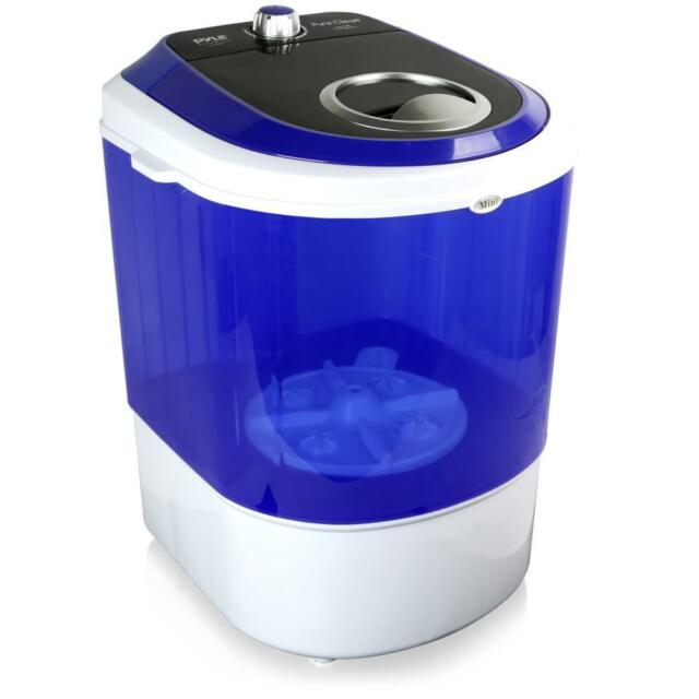 White Pyle Compact /& Portable Washing Machine with Mini Laundry Clothes Washer