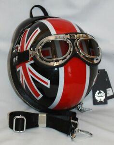 Motorradhelm-Union-Jack-Handtasche-Rucksack-Schultertasche-Biker-Eye-Catcher