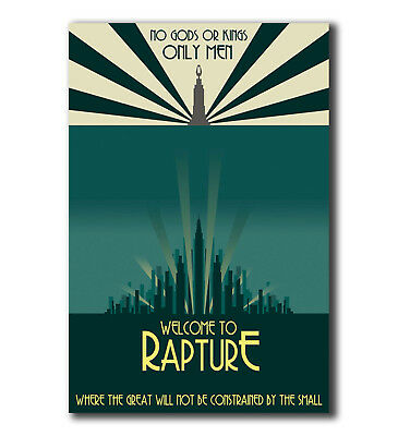 Silk Custom Poster Bioshock Welcome to Rapture Only Man C-492