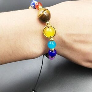 Naturstein-Perlen-Galaxy-Planeten-Sonnensystem-Armband-Armreif-N4V9-BS