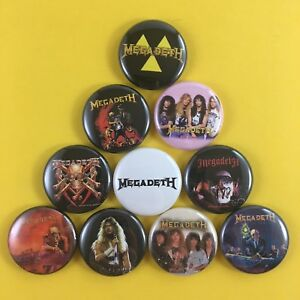MEGADETH-1-034-PIN-BUTTON-lot-Peace-Sells-Rust-in-Peace-Dave-Mustaine