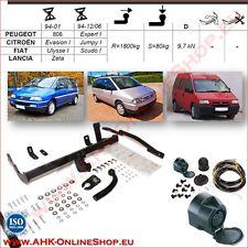 Gancio traino fisso Peugeot 806 94-01 / Expert 94/06 + kit elettrico 13-poli
