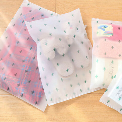 10pcs Home Travel Waterproof Pouch Frosted EVA Seal Storage Clothes Shoes Bags