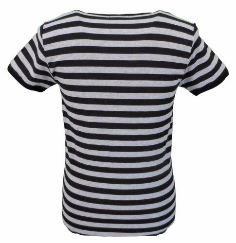 Mens Retro Mod 60s Indie Black /& Grey Cotton T Shirt …