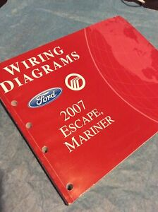 2007 Ford Escape Mercury Mariner Wiring Diagram Electrical ...
