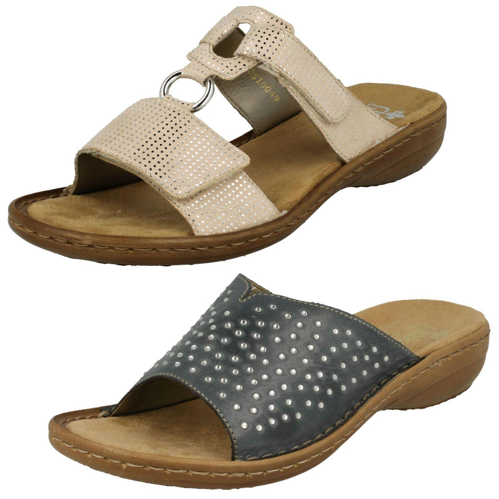 Damen Rieker 608p9 Freizeit Pantoffeln Sandalen Slipper  | Flagship-Store