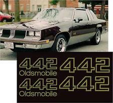 Olds 442 Decal Oldsmobile Vintage Decal Chrome Inlay 8 Inches Laminated 0106
