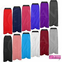 NEW WOMENS MAXI PLUS SIZE SKIRTS LADIES LONG GYPSY STRETCH PLAIN JERSEY SKIRT