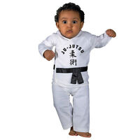 Kwon Baby Strampler Mit Jujutsu Schriftzug 2 Teiler Schriftzeichen Weiß 74