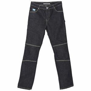 Spada-Rigger-Selvedge-Motorcycle-Motorbike-Denim-Jeans-CE-Knee-Armour-Blue-Short