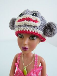 SOCK-MONKEY-CHARACTER-HAT-FASHION-STYLE-CLOTHING-FOR-FITS-LIV-amp-SIMILAR-DOLLS