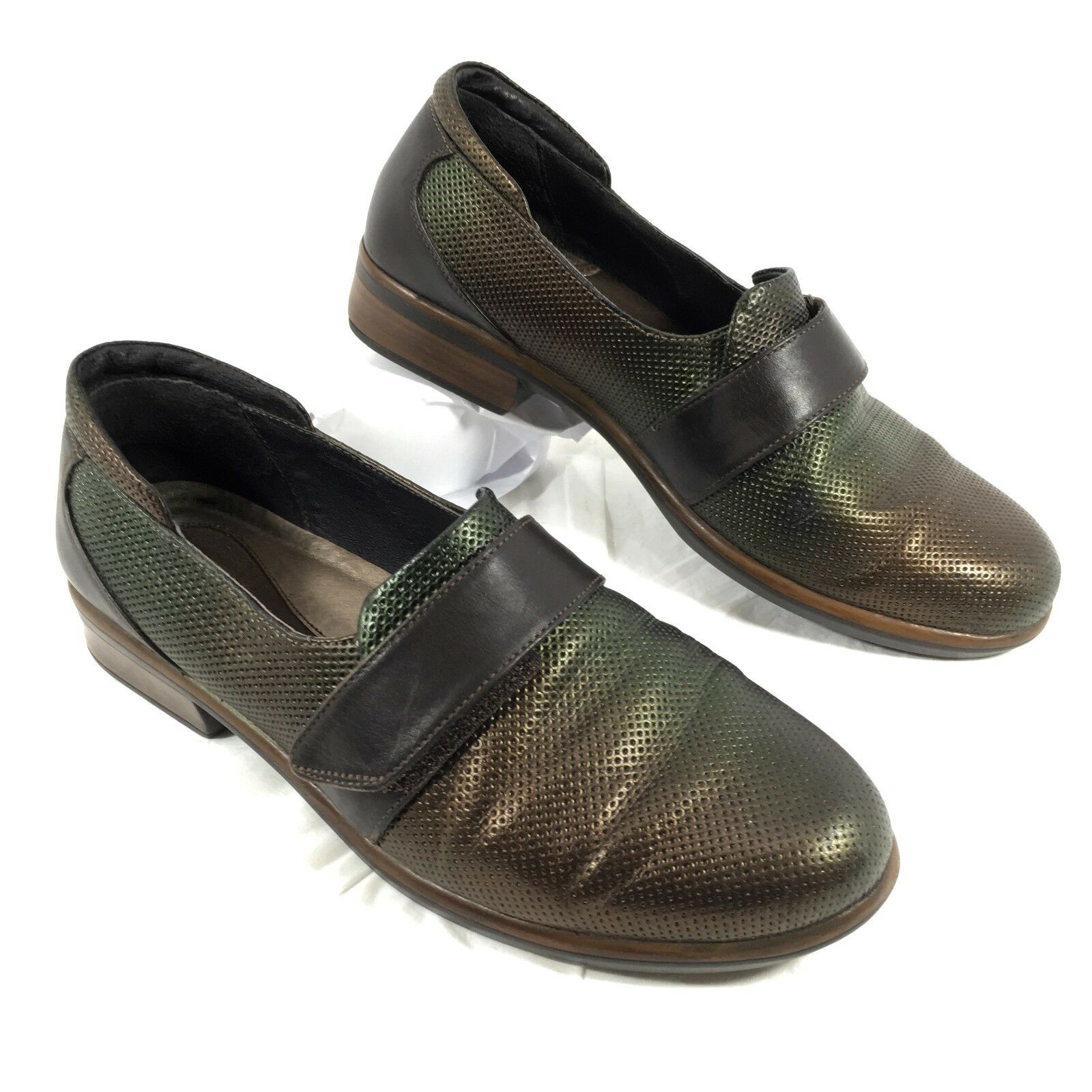 edizione limitata Naot Wind Wind Wind in Rattlesnake Loafers Marrone verde Leather Sz 8  nuovo stile