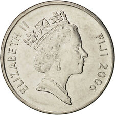 [#416707] Fiji, Elizabeth II, 20 Cents, 2006, Nickel plated steel, KM:53a
