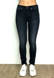 Womens-Ladies-Slim-Denim-Jeans-Casual-Dark-Denim