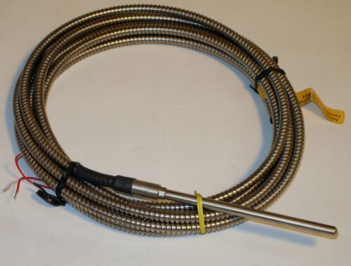 Platinum RTD 3-wire 12/' Armored Cable Pyromation RBF185L483-004-00-16-T3A144-2