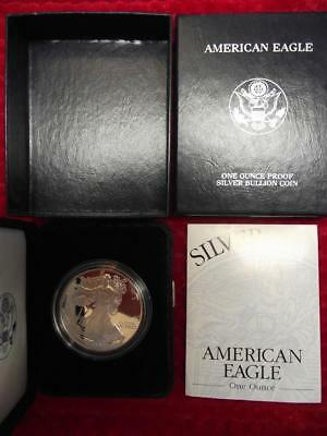 2002-W PROOF SILVER EAGLE 17th Year of Issue,Both Original BOXES /& COA