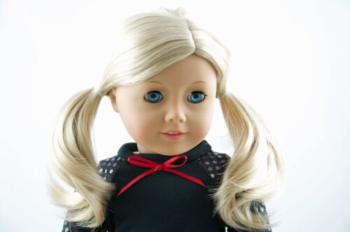 Halloween Black Top and Red Skirt American Made clothes for 18 inch Girl Dolls