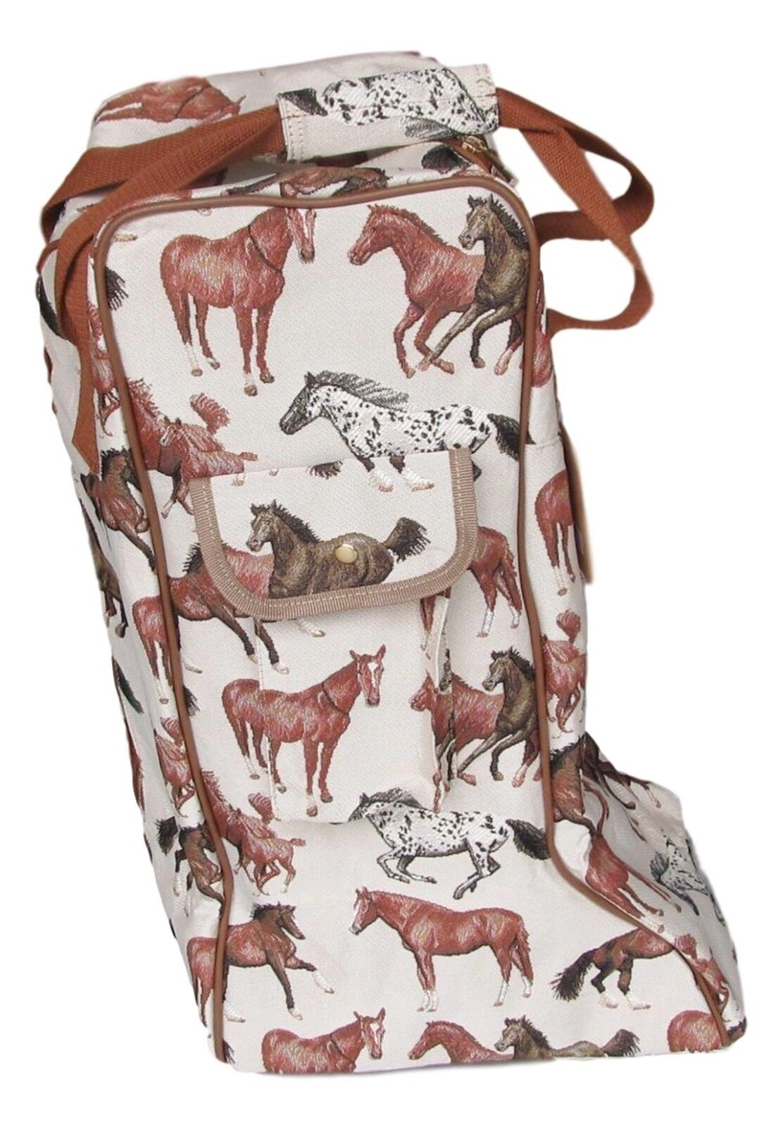 Diseño  de caballo en ejecución tapiz Bota Alta Bolsa De Almacenamiento Bolsa De Transporte  Envío rápido y el mejor servicio