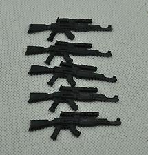 Gi Joe  2004  lot of 5 COBRA INFANTRY COBRA OFFICER ak-47 Rifle accessories #5