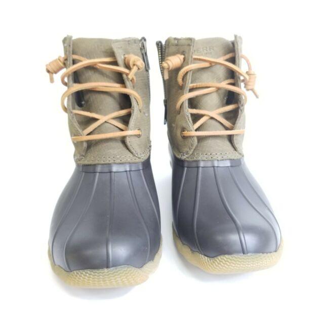 Saltwater Rain Boot Brown/olive Sz